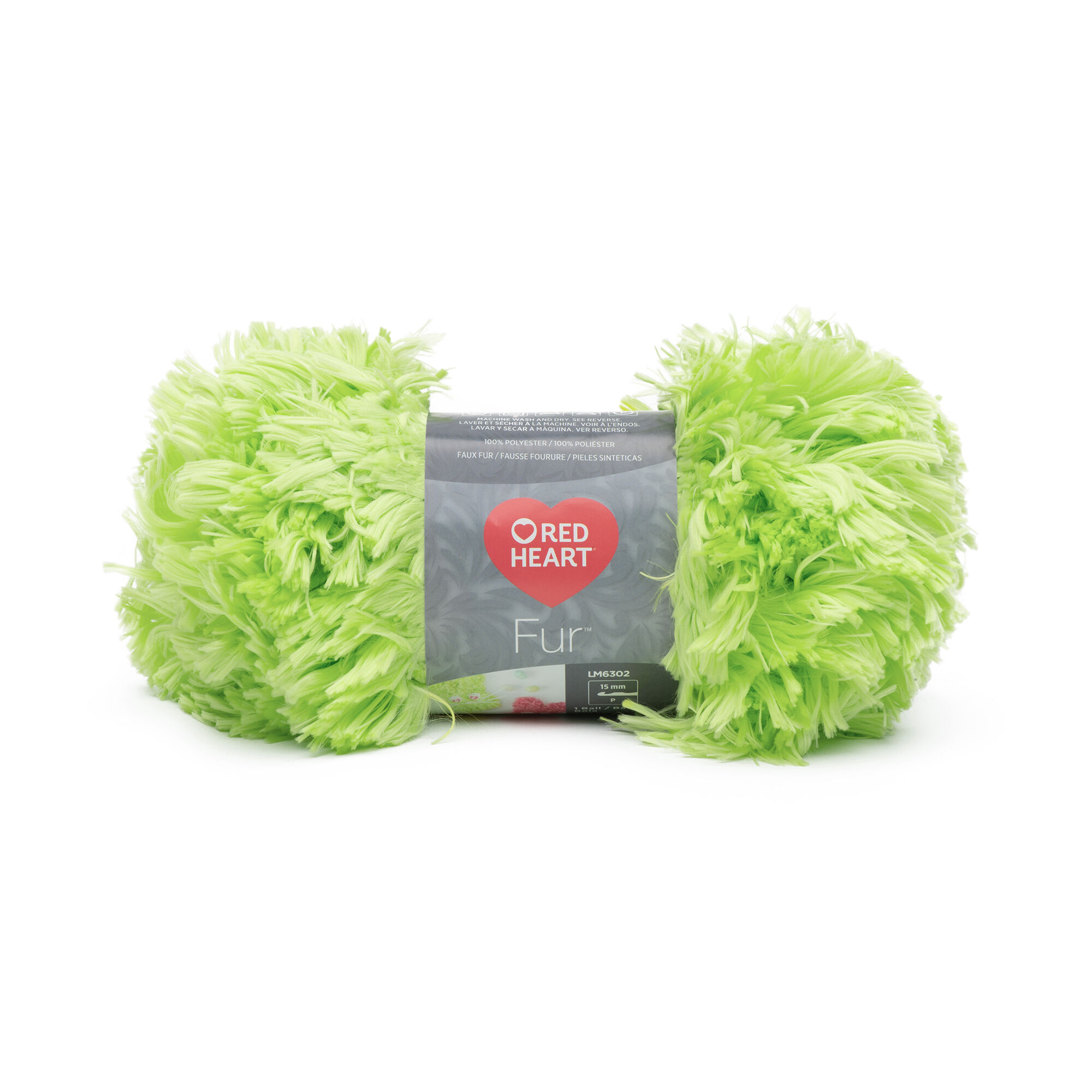 Red Heart Fur Yarn, Fur Lime