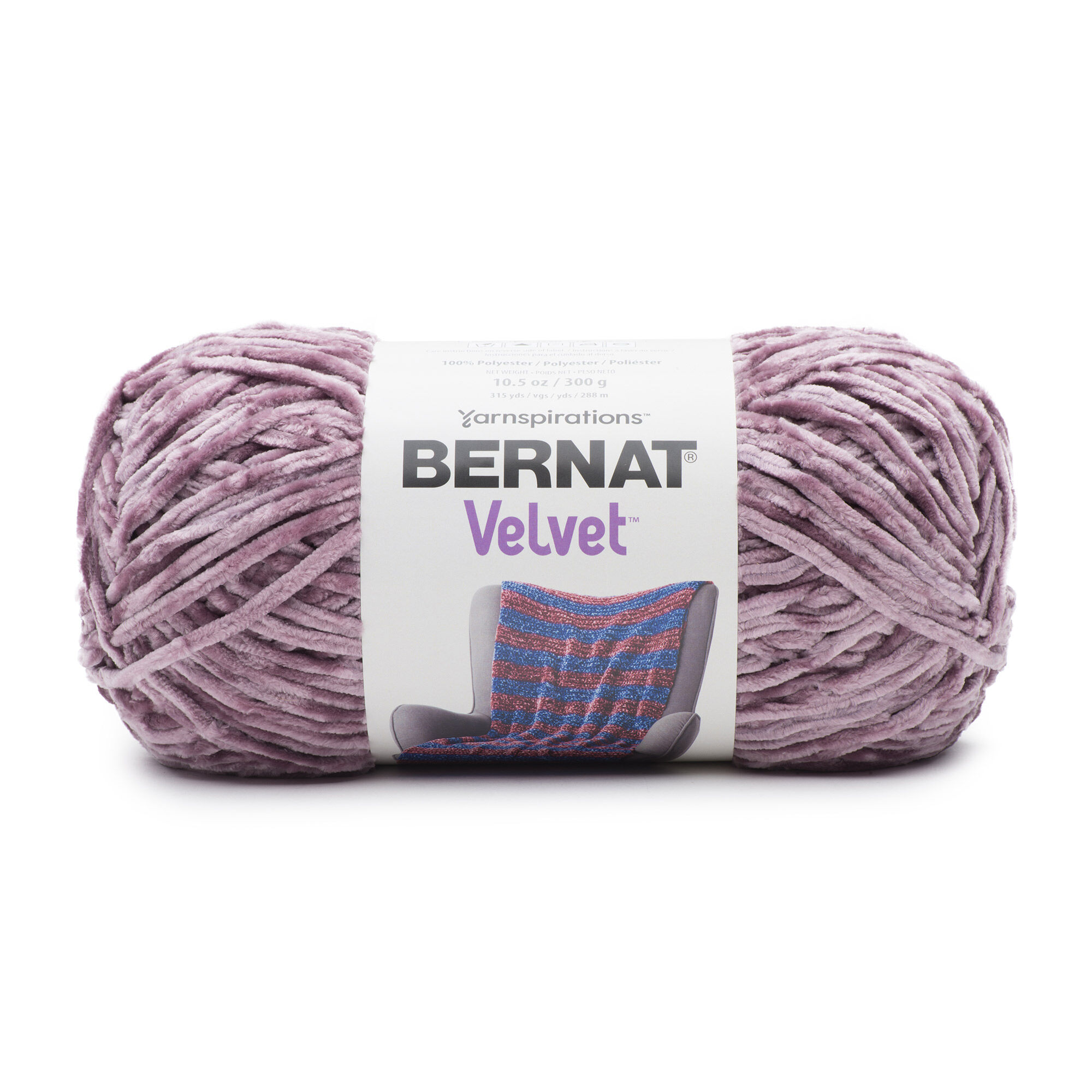 Bernat Velvet Yarn, Shadow Purple