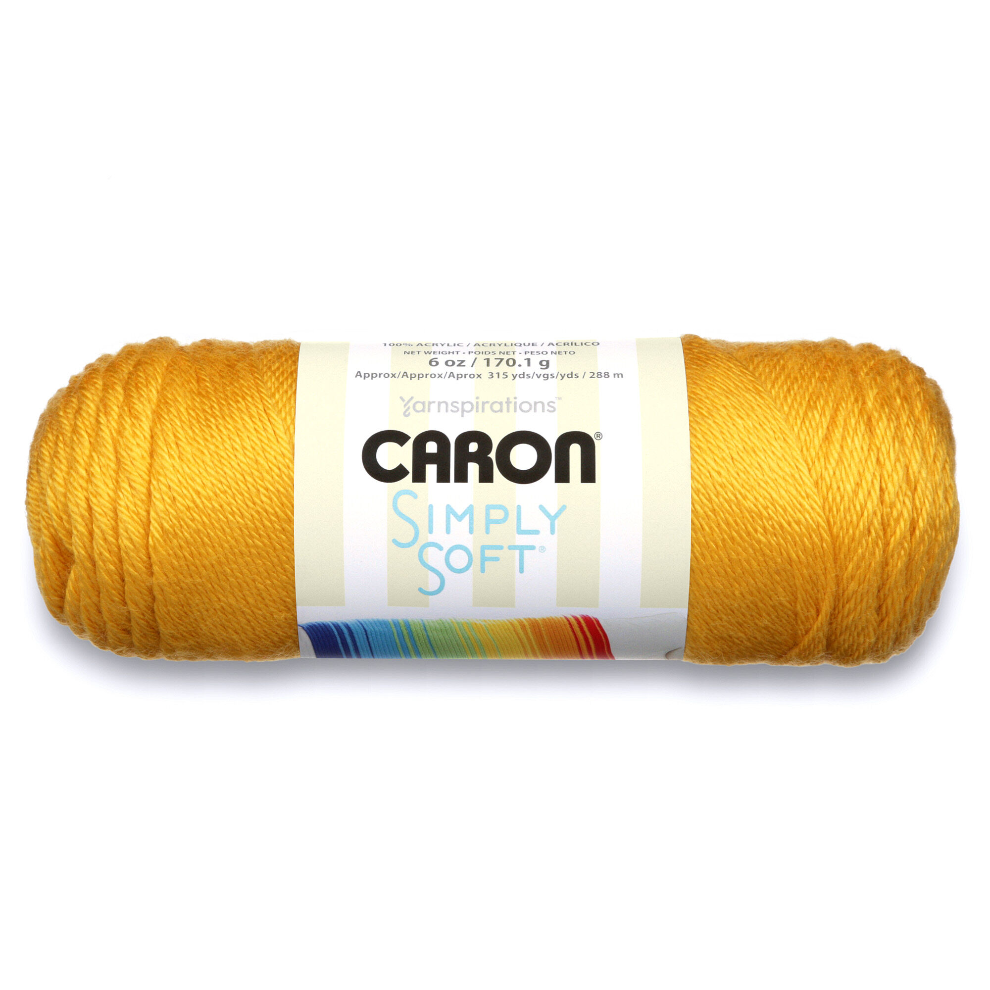 Caron Simply Soft Yarn, Gold