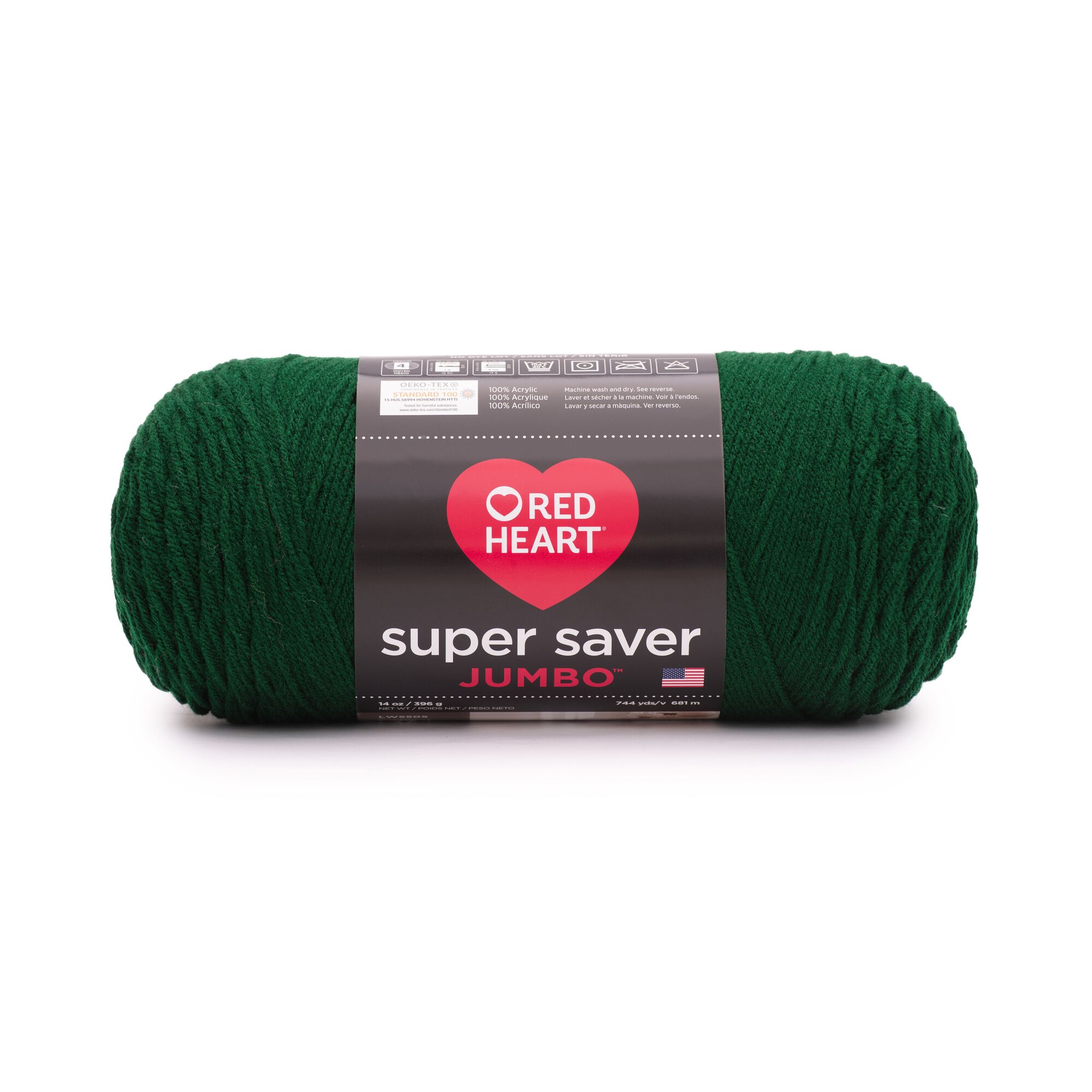 Red Heart Super Saver Jumbo Yarn, Hunter Green
