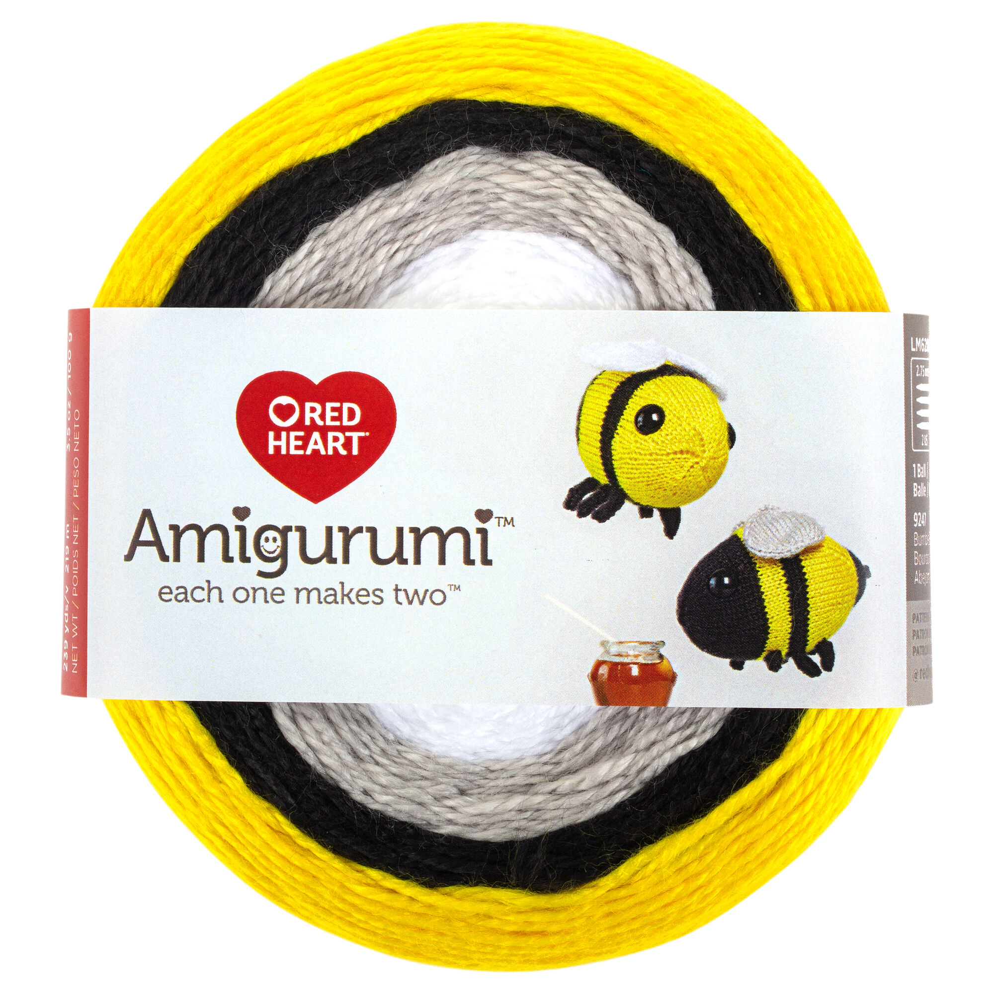 Red Heart Amigurumi Yarn, Bumble Bee