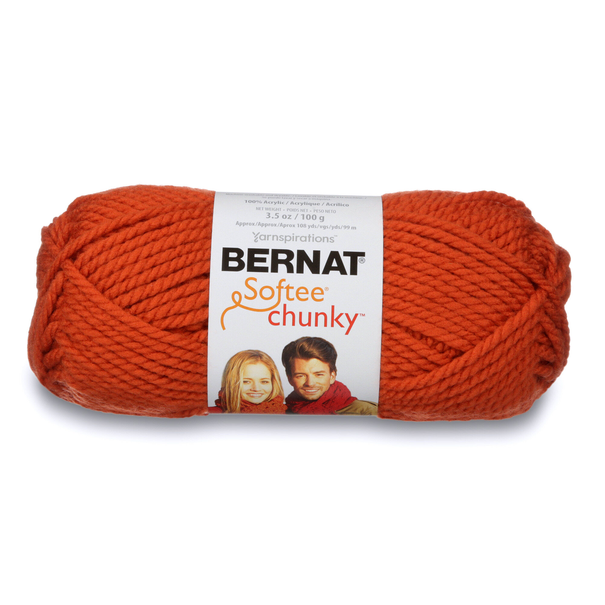Bernat Softee Chunky Yarn (100g/3.5oz), Pumpkin